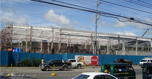 s and r shopping center davao under construction