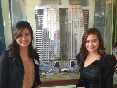 aeon towers scale model unveiled during the groundbreaking ceremony